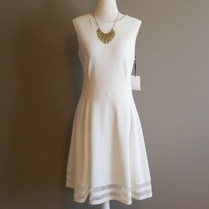 NWT Calvin Klein ivory dress